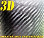 Adhésif covering Carbone 3D classique Noir 200 microns