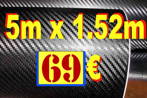 Carbone 3D classique Promo 5Mx1.52M 69 Euros