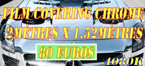 Film covering auto chrome 2Mètres x1.52Mètres ref4080k