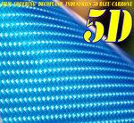 vinyle ,pour covering,effet, carbone 5D,bleu, thermoformable, adhésif autocollant luxe