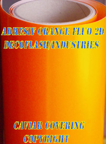 film adhésif fluo orange / caviar covering copyright