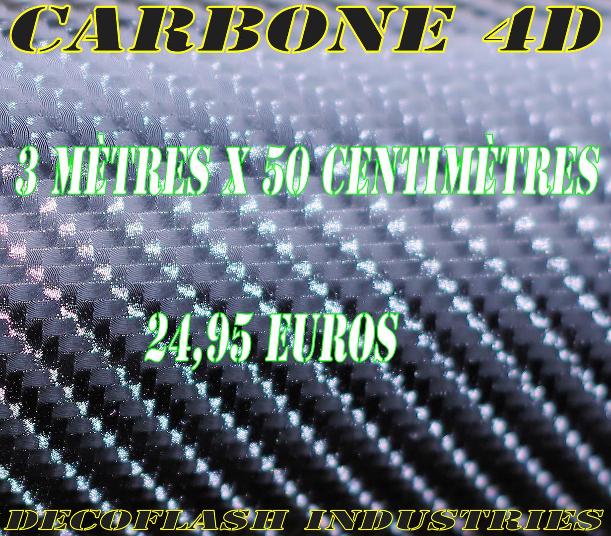 3m x 50cm carbone 4d 3 m tres x 50 centim tres moto covering decoflash industries rouleau. Black Bedroom Furniture Sets. Home Design Ideas